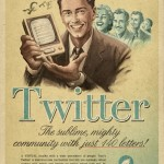 Twitter retro advert