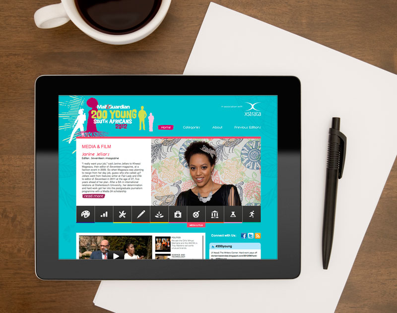 website design Mail and Guardian 200 Young South Africans