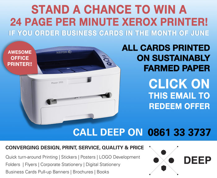 Business cards competition win a printer business cards competition reheart Choice Image